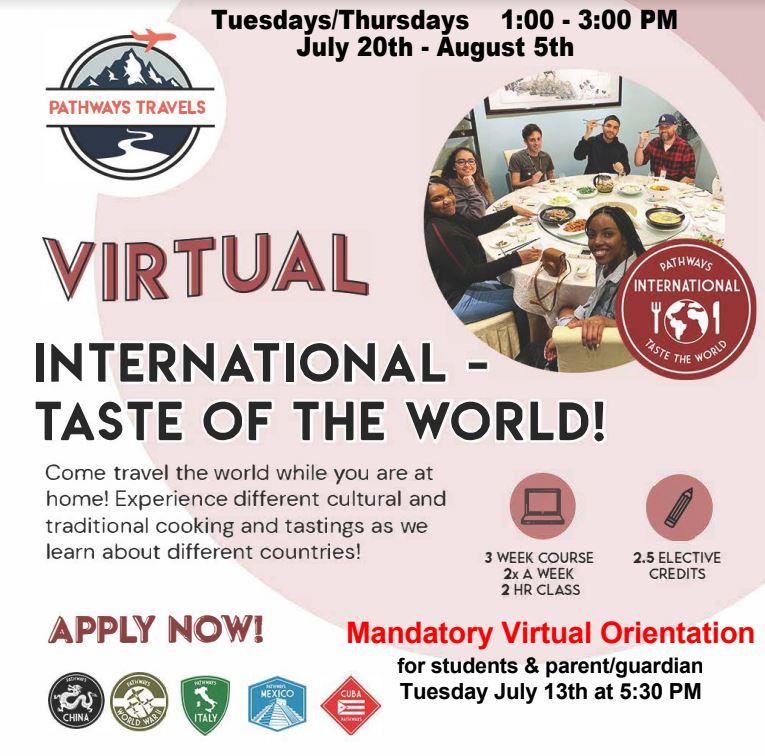 INTERNATIONAL TASTE OF THE WORLD